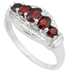 NATURAL RED RHODOLITE OVAL 925 STERLING SILVER RING JEWELRY SIZE 7 H2643