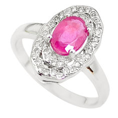 3.13cts natural red ruby topaz 925 silver solitaire ring jewelry size 9 c2906
