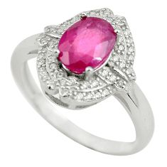 Clearance Sale- 4.08cts natural red ruby topaz 925 silver solitaire ring jewelry size 7 d32171