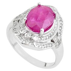 6.08cts natural red ruby topaz 925 sterling silver ring jewelry size 9 c2041