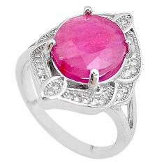 6.04cts natural red ruby topaz 925 sterling silver ring jewelry size 6 c2049