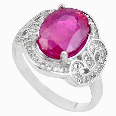 5.87cts natural red ruby topaz 925 sterling silver ring jewelry size 8 c2055