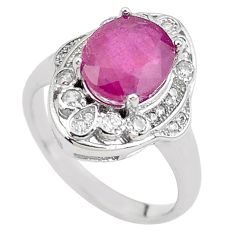5.87cts natural red ruby topaz 925 sterling silver ring jewelry size 6.5 c2059