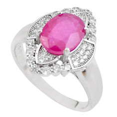 6.30cts natural red ruby topaz 925 sterling silver ring jewelry size 9 c2060