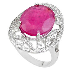 7.66cts natural red ruby topaz 925 sterling silver ring jewelry size 6.5 c2063