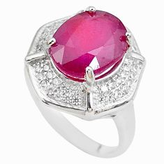 6.74cts natural red ruby topaz 925 sterling silver ring jewelry size 6 c2066