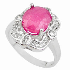 5.38cts natural red ruby topaz 925 sterling silver ring jewelry size 7.5 c2068