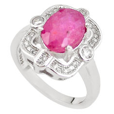6.83cts natural red ruby topaz 925 sterling silver ring jewelry size 7 c2073