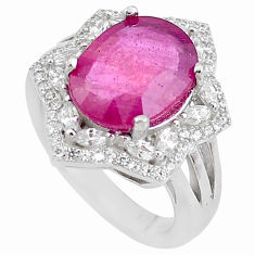 7.58cts natural red ruby topaz 925 sterling silver ring jewelry size 6 c2077