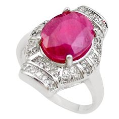 5.57cts natural red ruby topaz 925 sterling silver ring jewelry size 6.5 c2089