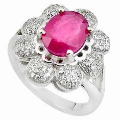 7.51cts natural red ruby topaz 925 sterling silver ring jewelry size 7 c2092
