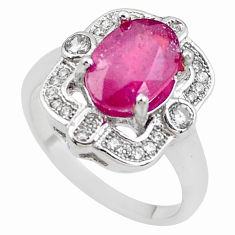 6.31cts natural red ruby topaz 925 sterling silver ring jewelry size 7 c2093