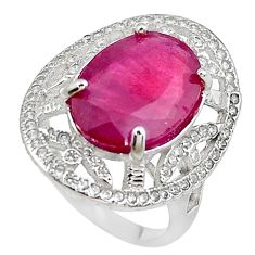 7.40cts natural red ruby topaz 925 sterling silver ring jewelry size 6.5 c2101