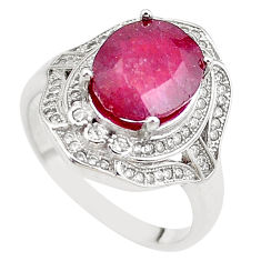 6.80cts natural red ruby topaz 925 sterling silver ring jewelry size 9 c2107