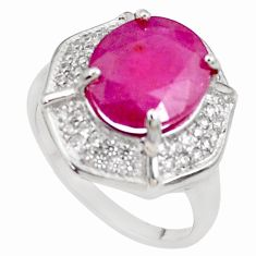 6.36cts natural red ruby topaz 925 sterling silver ring jewelry size 7 c2110