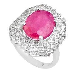 6.53cts natural red ruby topaz 925 sterling silver ring jewelry size 6 c2113