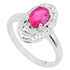 2.58cts natural red ruby topaz 925 sterling silver ring jewelry size 8 c2117