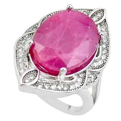 7.78cts natural red ruby topaz 925 sterling silver ring jewelry size 5.5 c2118