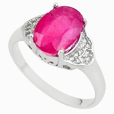 4.89cts natural red ruby topaz 925 sterling silver ring jewelry size 8 c2120