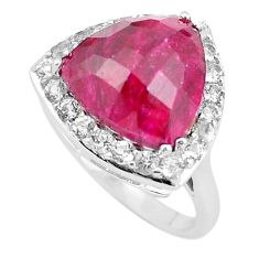 7.12cts natural red ruby topaz 925 sterling silver ring jewelry size 7 c3741