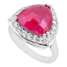 7.66cts natural red ruby topaz 925 sterling silver ring jewelry size 6.5 c3742