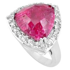7.66cts natural red ruby topaz 925 sterling silver ring jewelry size 5.5 c3743
