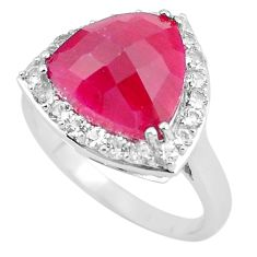 7.07cts natural red ruby topaz 925 sterling silver ring jewelry size 9 c3745