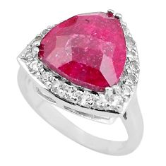 6.76cts natural red ruby topaz 925 sterling silver ring jewelry size 7 c3749
