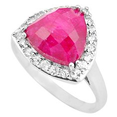 7.24cts natural red ruby topaz 925 sterling silver ring jewelry size 11.5 c3753