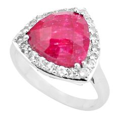 7.24cts natural red ruby topaz 925 sterling silver ring jewelry size 9 c3754