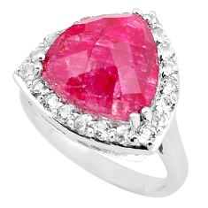 6.83cts natural red ruby topaz 925 sterling silver ring jewelry size 6.5 c3758