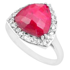 7.24cts natural red ruby topaz 925 sterling silver ring jewelry size 10 c3760