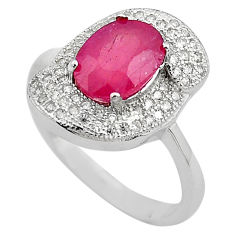 5.36cts natural red ruby topaz 925 sterling silver ring jewelry size 7 c4027