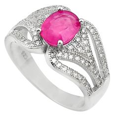 4.92cts natural red ruby topaz 925 sterling silver ring jewelry size 7 c4031