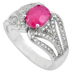 4.35cts natural red ruby topaz 925 sterling silver ring jewelry size 7 c4033