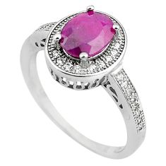 3.59cts natural red ruby topaz 925 sterling silver ring jewelry size 7 c4045