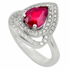 3.40cts natural red ruby topaz 925 sterling silver ring jewelry size 6 c4199