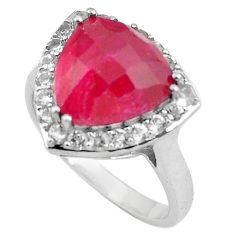 6.83cts natural red ruby topaz 925 sterling silver ring jewelry size 9 c4278
