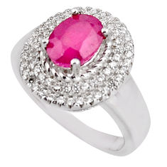 4.72cts natural red ruby topaz 925 sterling silver ring jewelry size 7 c5571