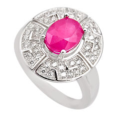 4.38cts natural red ruby topaz 925 sterling silver ring jewelry size 6.5 c5599