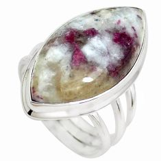 19.00cts natural tourmaline in quartz 925 silver solitaire ring size 8 p38758