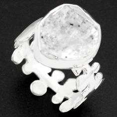 6.26cts natural white herkimer diamond 925 silver solitaire ring size 7 p74009