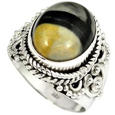 Natural white howlite 925 sterling silver solitaire ring jewelry size 6 j13747
