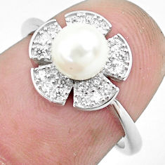 2.75cts natural white pearl topaz 925 silver solitaire ring jewelry size 6 c1256