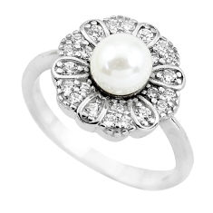 2.42cts natural white pearl topaz 925 sterling silver ring jewelry size 6 c2615