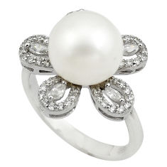 6.04cts natural white pearl topaz 925 sterling silver ring jewelry size 7 c4130
