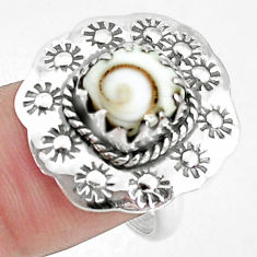 3.42cts natural white shiva eye 925 silver solitaire ring size 7.5 p42376