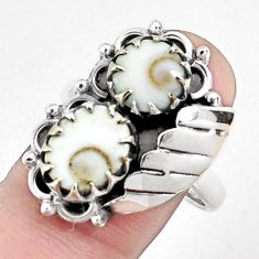 7.07cts natural white shiva eye 925 sterling silver ring jewelry size 9 p42325