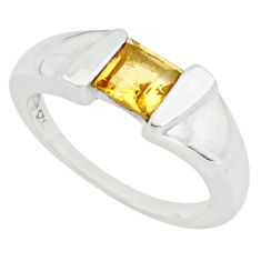 0.97cts natural yellow citrine 925 silver solitaire ring jewelry size 6 p73012