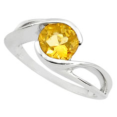 2.95cts natural yellow citrine 925 silver solitaire ring jewelry size 5.5 p81850